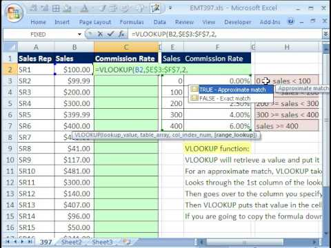 Excel Magic Trick #397: VLOOKUP Copied Down a Column (VLOOKUP Basics)