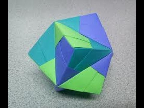 Origami stellated octahedron (sonobe)