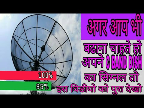 How to increase 4 Fit C band Dish signal