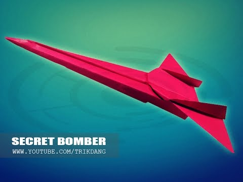 BEST ORIGAMI PAPER JET - How to make a paper airplane that FLIES FAST & FAR | Secret Bomber