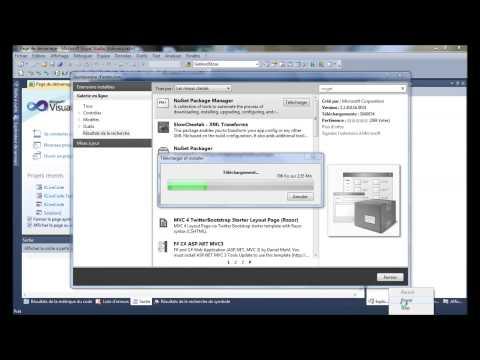Comment installer NuGet dans Visual Studio 2010 - youtube