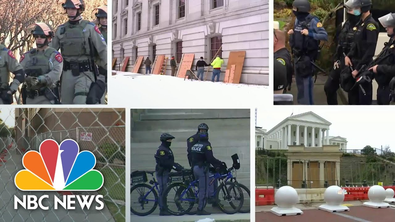 State Capitols On Edge Over Possible Violent Protests | NBC Nightly News