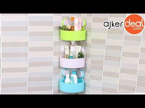 triangle-shaped bathroom corner shelf | bathroom shelf