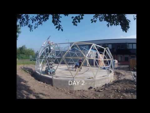 Geodesic dome time lapse build, using SOLARDOME® PRO architectural system.
