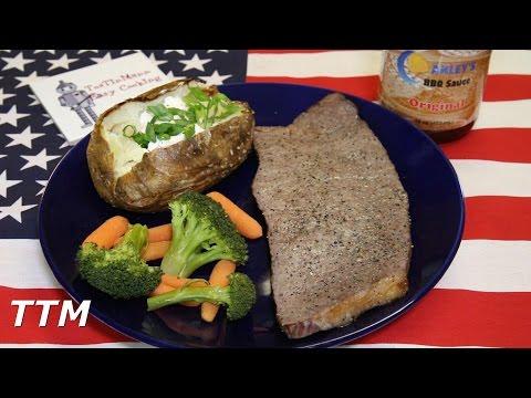 Toaster Oven Steak and Baked Potato Dinner for Under 2 Dollars
