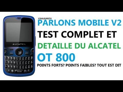 Parlons Mobile V2 - Test du Alcatel OT800