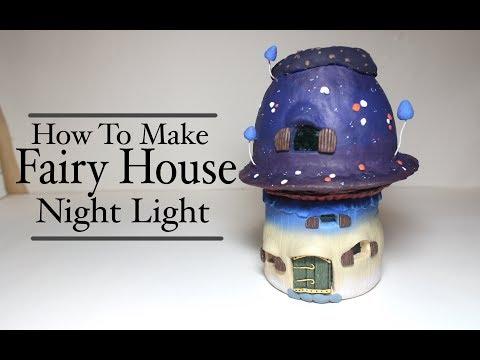 DIY Polymer Clay Fairy House Lantern/Jar Mushroom House Tutorial Craft Idea