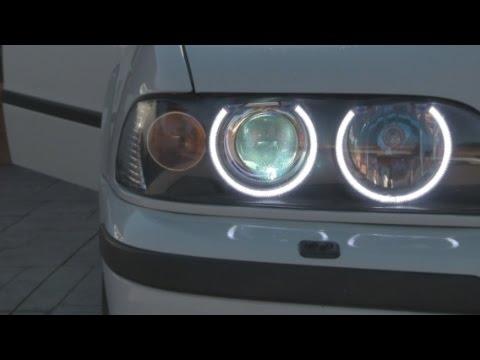 Umnitza Projector39 BMW e39 Review (FXR Retrofit & Orion V4 LED Angel Eyes)