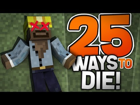 CAN'T... STOP... DYING!!! - 25 Ways To Die in Minecraft - Puzzle Map (PE, W10, XB1)