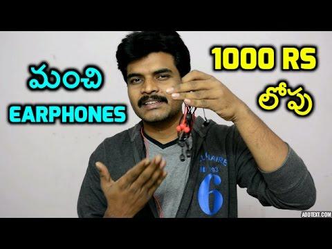 best earphones under1000rs review in telugu