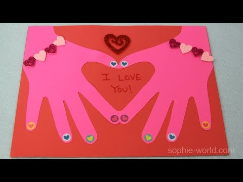 How to Make a Heart in Hand Valentine's Day Card | Sophie's World