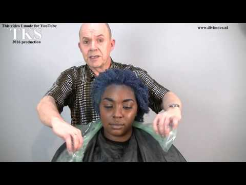 How to get black hair into dark blue.  Naomy by T.K.S.