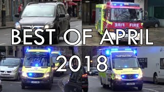 Police vehicles, Ambulances and Fire Engines responding - BEST OF APRIL 2018!