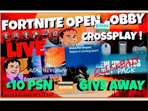 🙂MenamesCho's Live Ps4 💳 Giveaway Day (UK) 🤗 Fortnite Battle Royale 💳 Fri 27th April 18 Meteors!