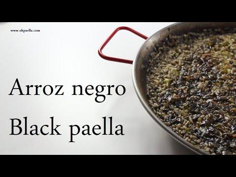 Arroz negro. Paella. Black rice. Black paella