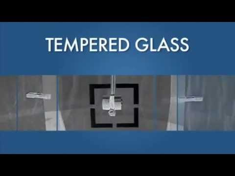 The difference between Plate glass and Tempered glass and what they look like when they break.