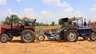 BIKE VS TRACTORS | ट्रैक्टर ने बाइक को एक झटके में तोड़ा | Experiment By BLADE XYZ |