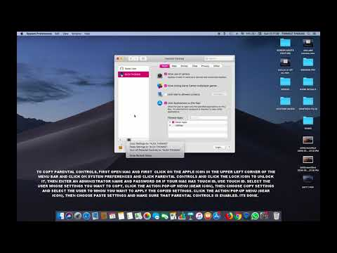 HOW TO COPY PARENTAL CONTROLS FROM ONE USER TO ANOTHER USER IN MAC OS MOJAVE