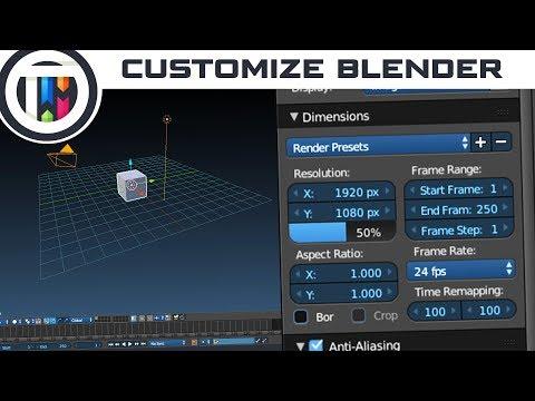 Blender Tutorial - How to Customize Blender