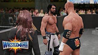 WWE 2K17 Wrestlemania 33 - Seth Rollins vs Triple H