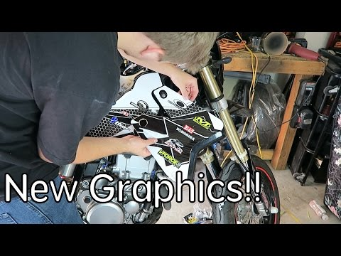 How to install graphics on a DRZ400sm!
