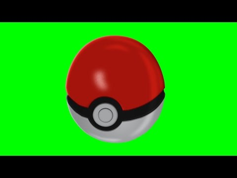 Pokémon Go Poké Ball Pokeball Animation - Green Screen