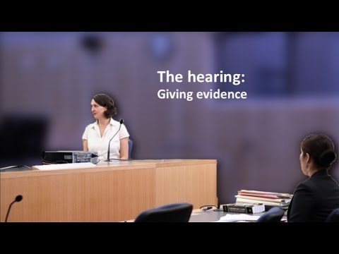 LawAccess NSW -  The hearing: Giving evidence