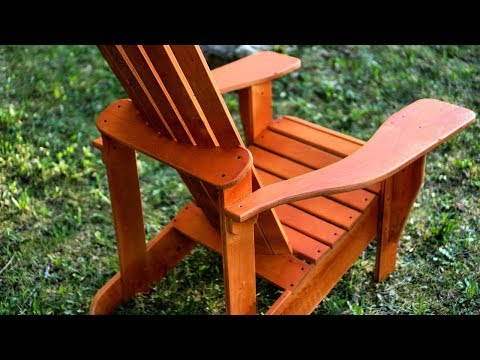 Making Adirondack Chairs From PLYWOOD - 2 from one sheet