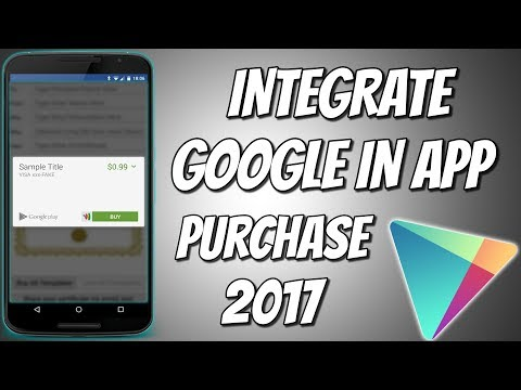 Integration of Google play in app purchase (Google play payment method) in Android studio | 2017