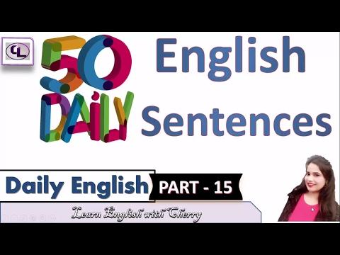 English sentences used in daily life - Daily English Speaking - Part 15 - Easy English through hindi