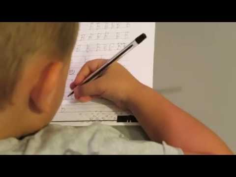 4 year old learning to write Letters