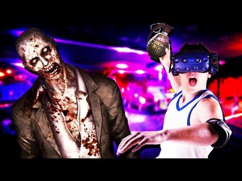 BLASTING ZOMBIES IN VR! - Zombie Grenades Practice Gameplay - VR HTC Vive Pro