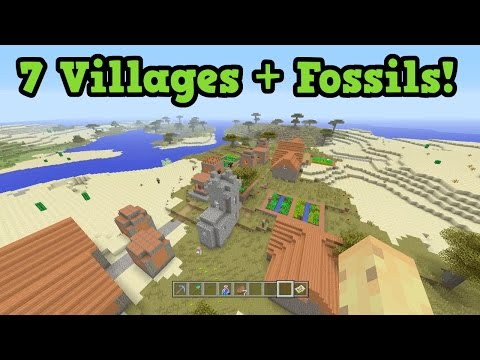 Minecraft Xbox 360 / PS3 - 7 Villages, FOSSIL SEED (TU43)