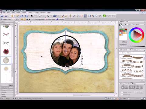 Digital Scrapbook Artist Christmas Card Tutorial