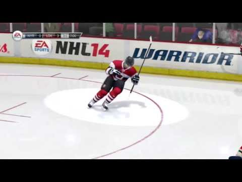 Best Deke on Human Goalie! (NHL 14 Clips)