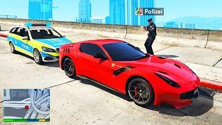 Polizeikontrolle im FERRARI in GTA 5 RP!