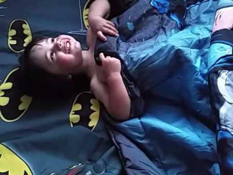 Peter's new batman bed!