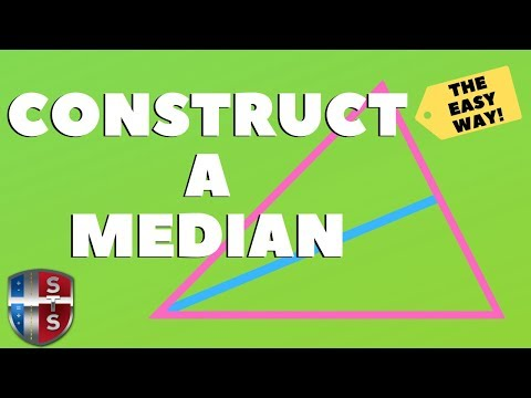 Geometry - Construct - A median of a triangle