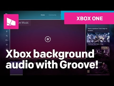 Using Xbox One background audio with Groove Music