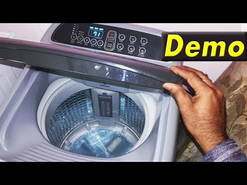 samsung top load fully automatic washing machine demo   how to use samsung top load washer