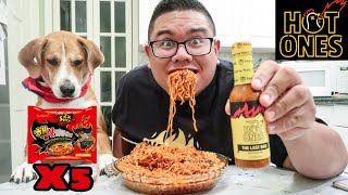 Download Fire Noodle Challenge X5 & The Last Dab Hot Ones Hot Sauce Video