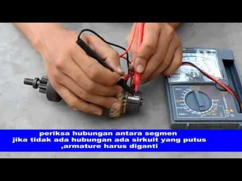 pemeriksaan armature motor starter konvensional
