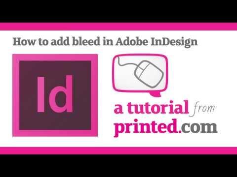 Adobe InDesign Tutorial - Adding Bleed