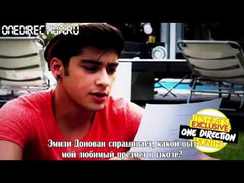 Zayn Malik from One Direction answers your twitter questions! [RusSub]