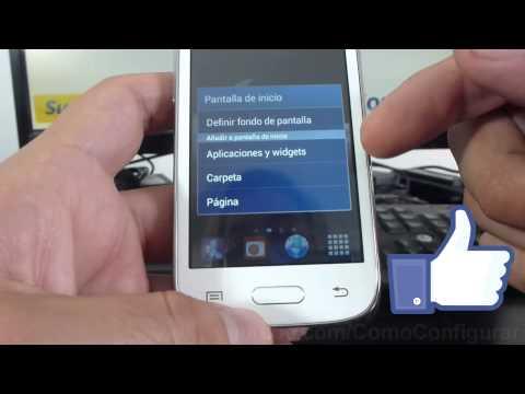 como instalar widgets de samsung Galaxy Young S6310 español Full HD