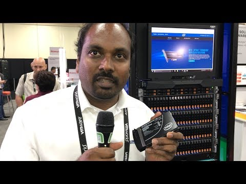 VMworld 2017 US - at Supermicro, Vik Malyala shows us Intel servers featuring Optane and vSAN