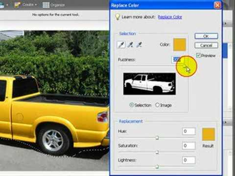 Photoshop - change color in an image