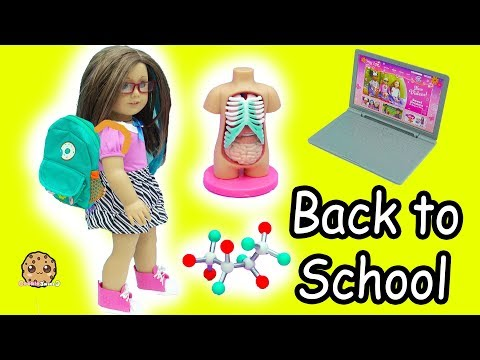 American Girl Back To School Science & Clothing Haul - Cookie Swirl C Doll Video