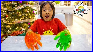 Easy DIY Science Experiment for kids Ice Hands Gloves !!!