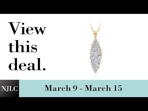 Deal of the Week: Yellow Gold Diamond Cluster Pendant
